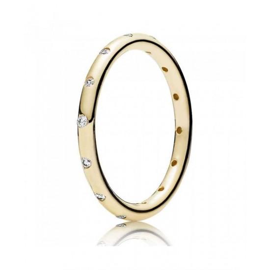 Pandora Ring-14ct Cubic Zirconia Narrow Band Jewelry