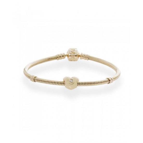 Pandora Bracelet-14ct Sparkling Heart Complete Jewelry