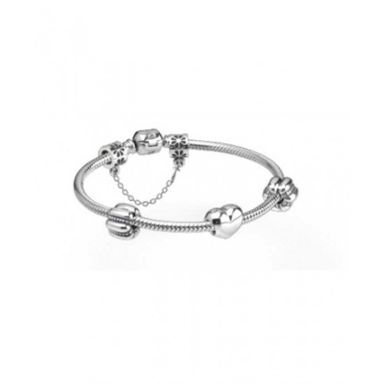 Pandora Bracelet-My Love For You Silver Complete Jewelry