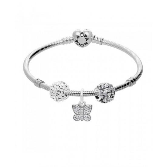 Pandora Bracelet-Soft Petals Complete Jewelry