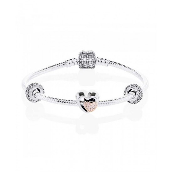 Pandora Bracelet-Two Hearts Are One Complete Jewelry