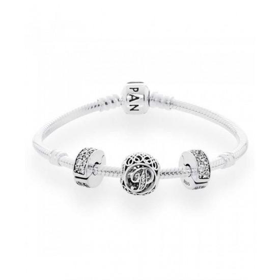 Pandora Bracelet-Vintage P Complete Jewelry