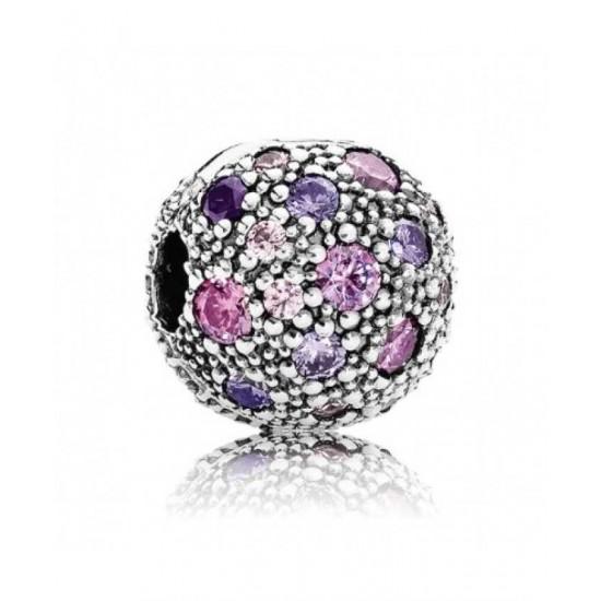 Pandora Clip-Fancy Purple Cosmic Stars Jewelry