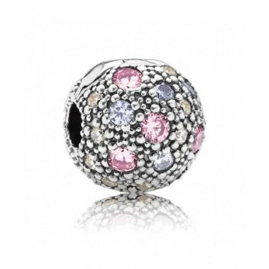 Pandora Clip-Pale Pink Cosmic Stars Jewelry