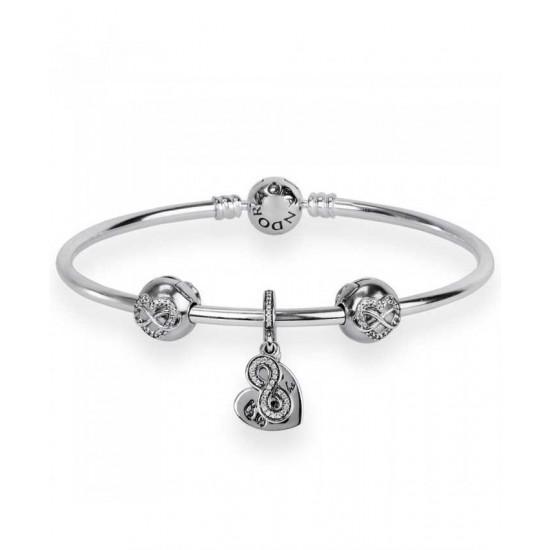 Pandora Bracelet-Forever Friends Complete Bangle Jewelry