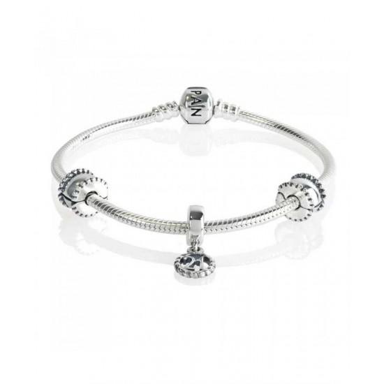 Pandora Bracelet-Silver 21st Celebration Complete Jewelry