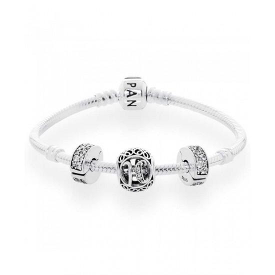 Pandora Bracelet-Vintage H Complete Jewelry
