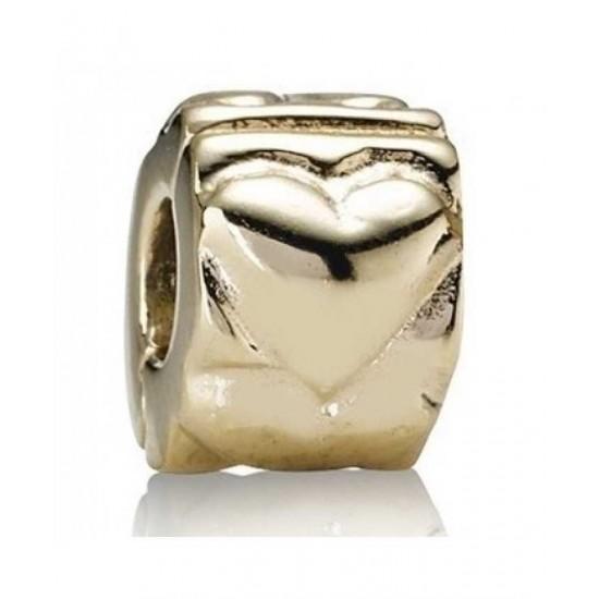 Pandora Clip-14ct Gold Heart Jewelry