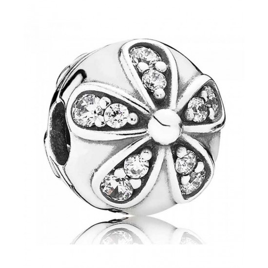 Pandora Clip-Cubic Zirconia Daisy Jewelry
