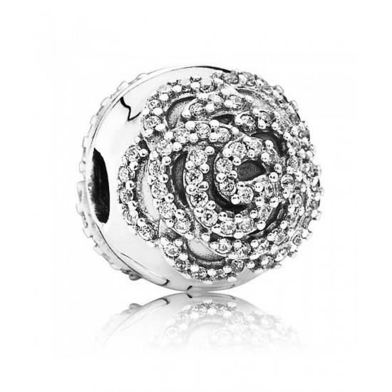 Pandora Clip-Silver Cubic Zirconia ShimmeRing Jewelry