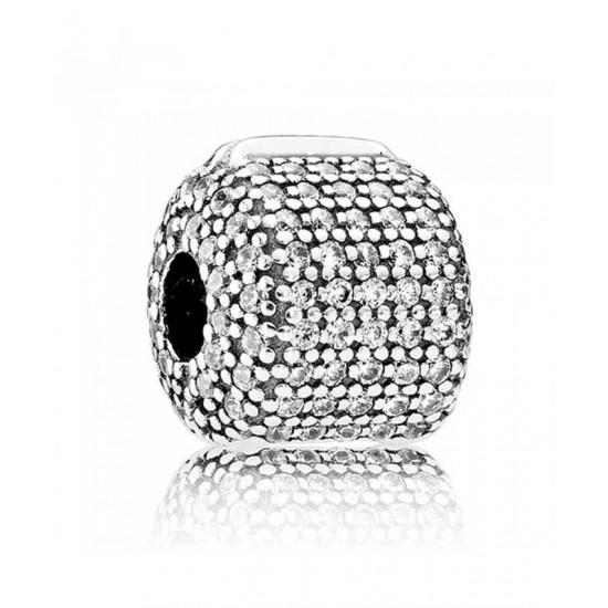 Pandora Clip-Silver Pave Barrel Jewelry