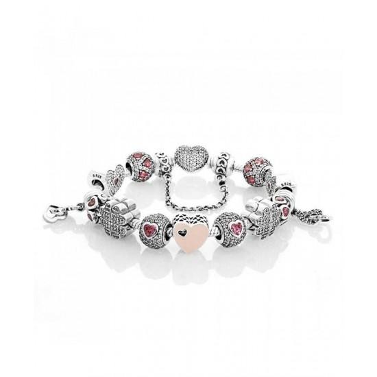 Pandora Bracelet-Advertised Captivated Love Complete Jewelry