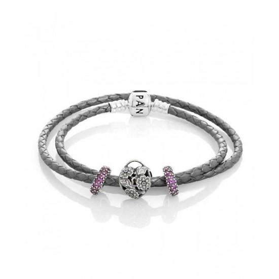 Pandora Bracelet-Floral Heart Complete Jewelry