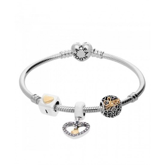 Pandora Bracelet-Heart Of Gold Complete Jewelry
