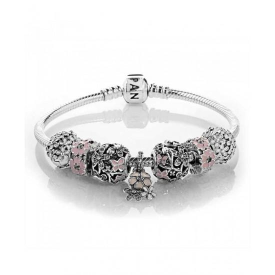 Pandora Bracelet-Pink Primrose Complete Jewelry