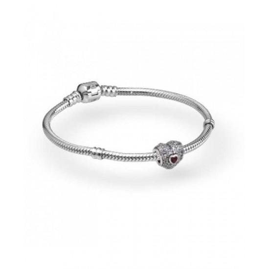 Pandora Bracelet-Sparkling Heart Complete Jewelry Sale Cheap
