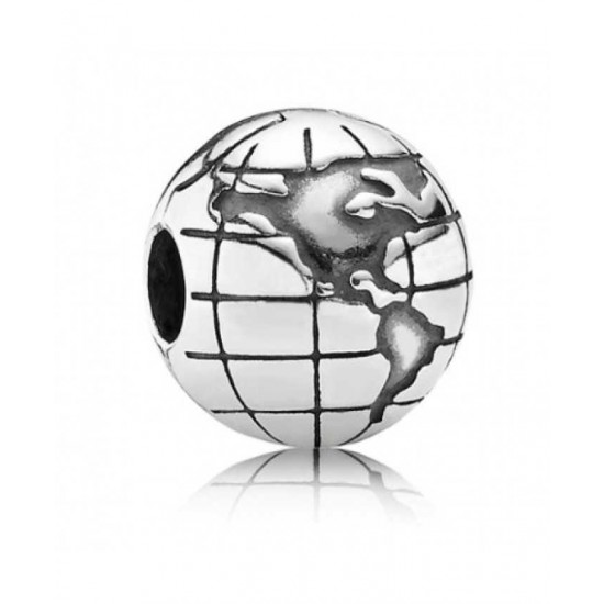 Pandora Clip-Silver Globe Jewelry