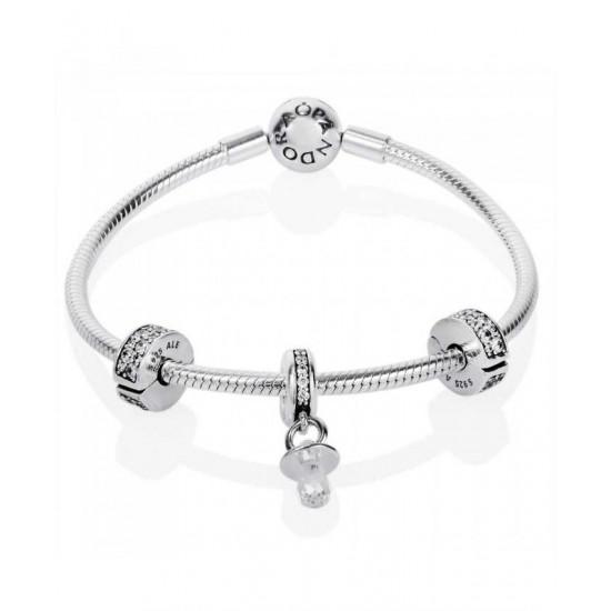 Pandora Bracelet-Baby Christening Complete Jewelry