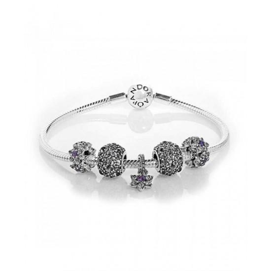 Pandora Bracelet-Forget Me Not Complete Jewelry