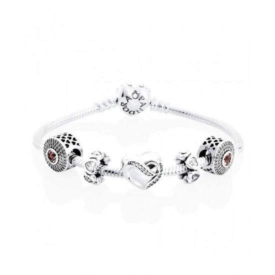 Pandora Bracelet-Ribbon Of Love Complete Jewelry