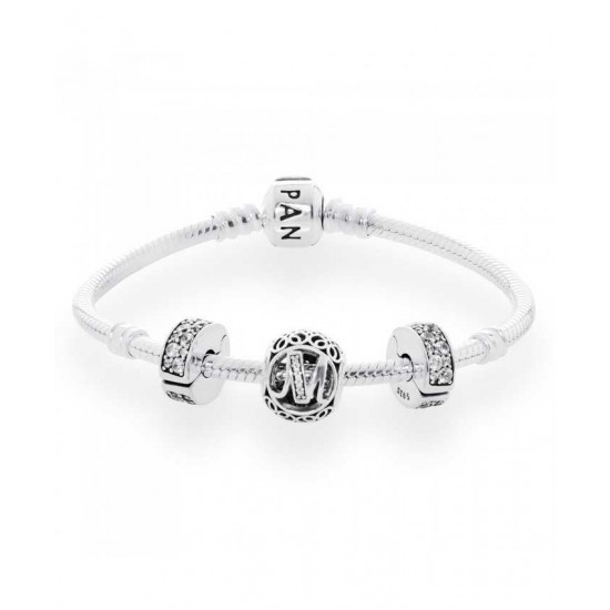 Pandora Bracelet-Vintage M Complete Jewelry