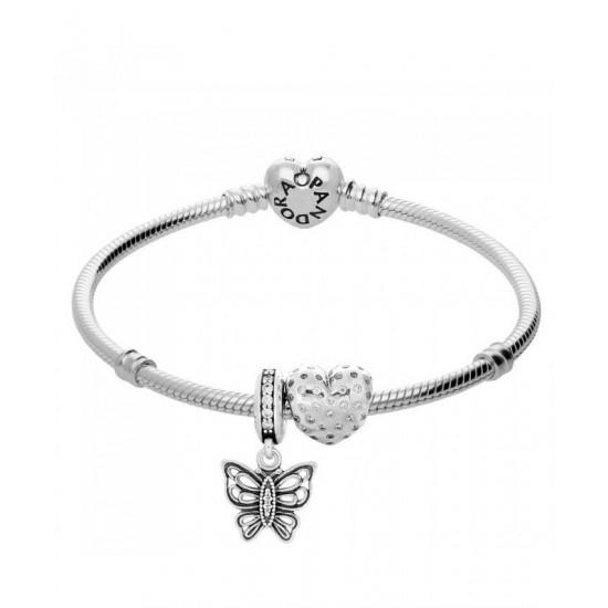 Pandora Bracelet-You Give Me Butterflies Complete Jewelry