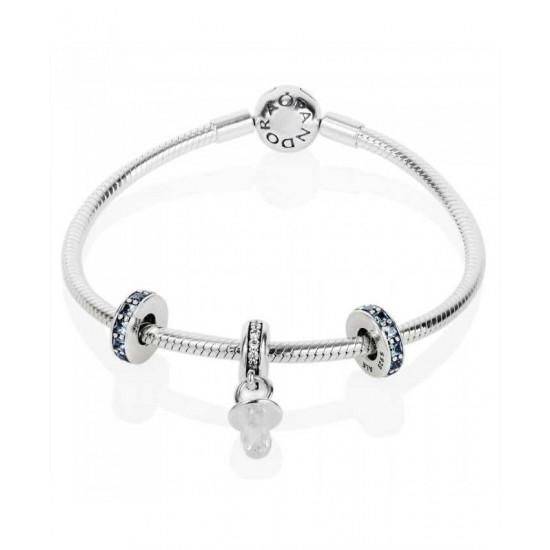 Pandora Bracelet-Baby Boy Christening Complete Jewelry