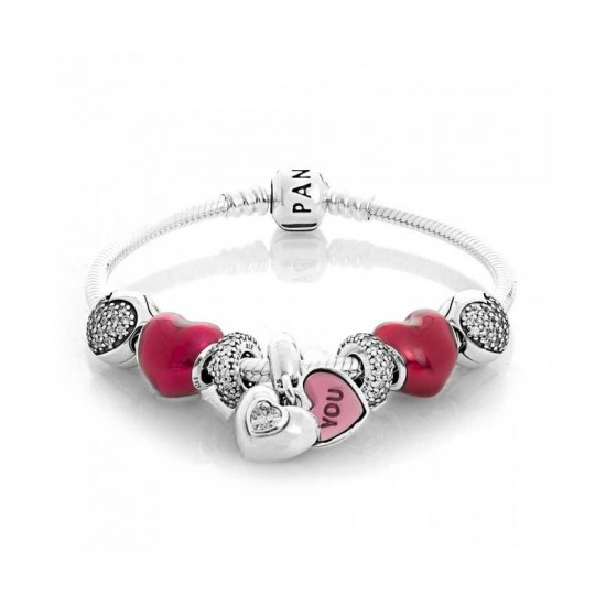 Pandora Bracelet-Beat Of My Heart Complete Jewelry