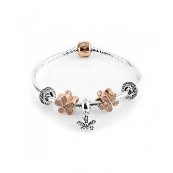Pandora Bracelet-Rose Daisy Chain Jewelry