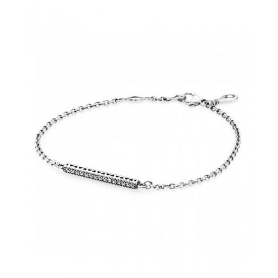 Pandora Bracelet-Silver Cubic Zirconia Openwork Hearts Jewelry
