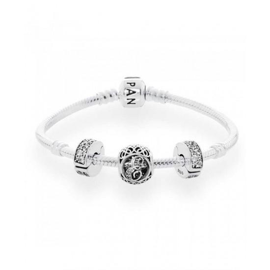 Pandora Bracelet-Vintage E Complete Jewelry