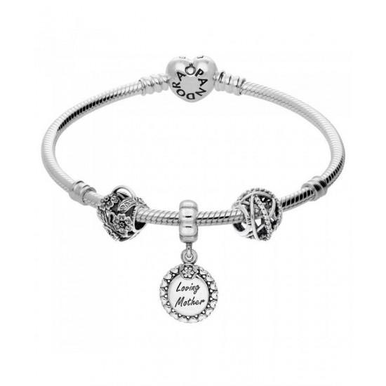 Pandora Bracelet-Loving Mother Complete Jewelry