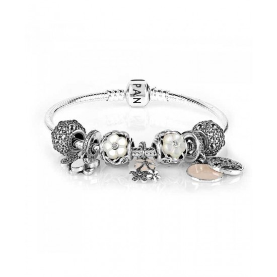 Pandora Bracelet-Luminous Blooms Complete Jewelry Store No Tax