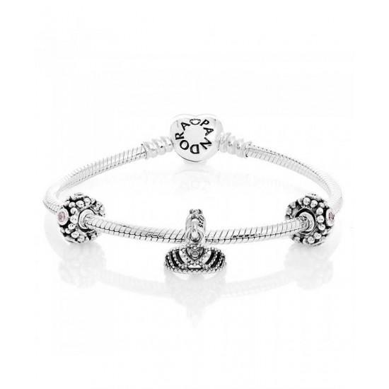 Pandora Bracelet-Pink Princess Complete Jewelry