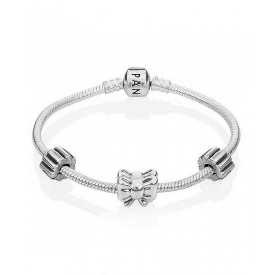 Pandora Bracelet-Silver Bow Jewelry