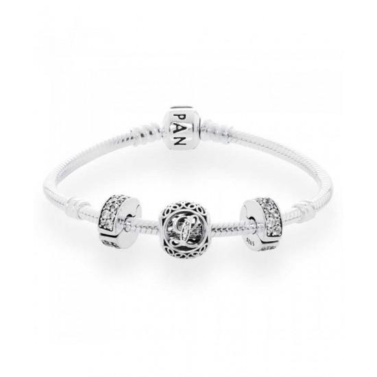 Pandora Bracelet-Vintage L Complete Jewelry