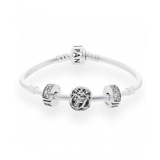 Pandora Bracelet-Vintage U Complete Jewelry