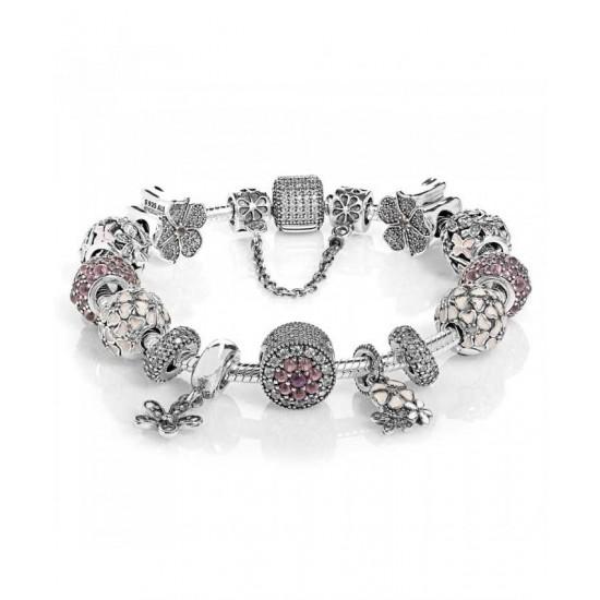 Pandora Bracelet-Dazzling Floral Complete Jewelry