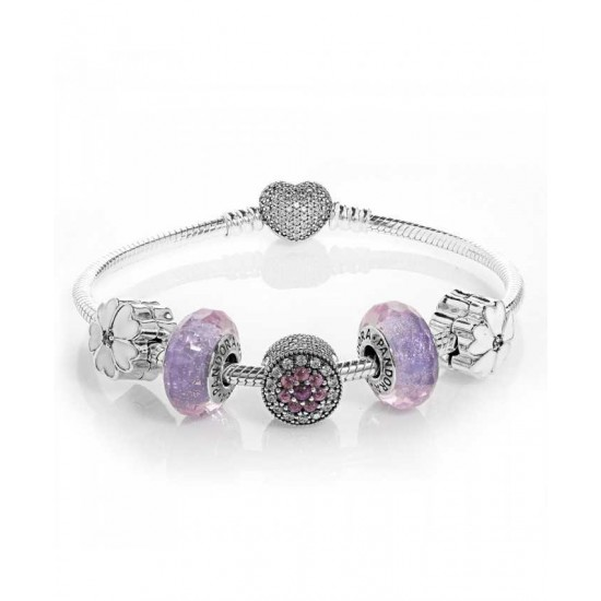 Discount Pandora Bracelet-Dazzling Floral Complete Jewelry