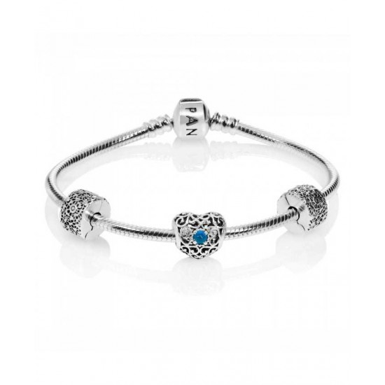 Pandora Bracelet-December Birthstone Complete Jewelry