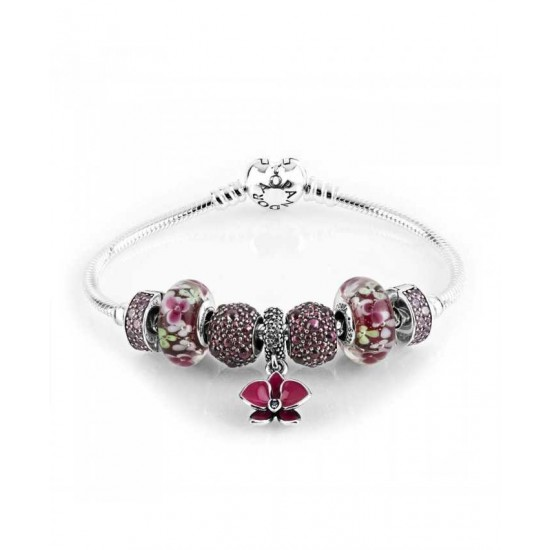 Pandora Bracelet-Oriental Orchid Complete Jewelry