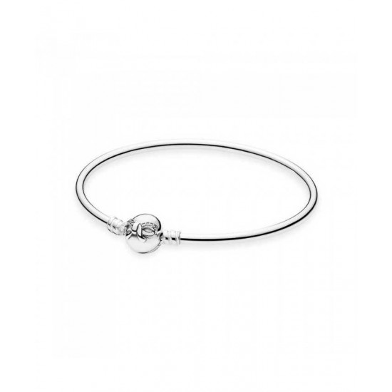 Pandora Bangle-Silver Dainty Bow Jewelry