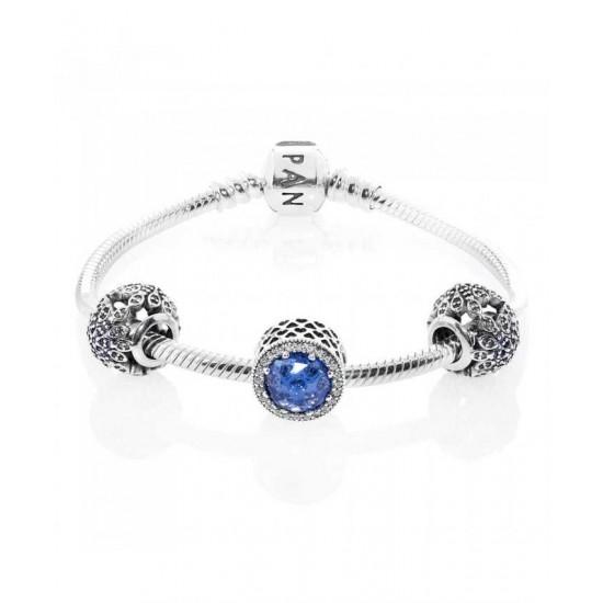 Pandora Bracelet-Crystallised Snowflake Complete Jewelry