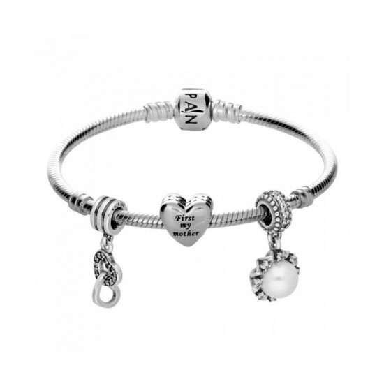 Pandora Bracelet-First My Mother Forever My Friend Complete Jewelry