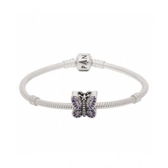 Pandora Bracelet-Lavender Butterfly Complete Jewelry