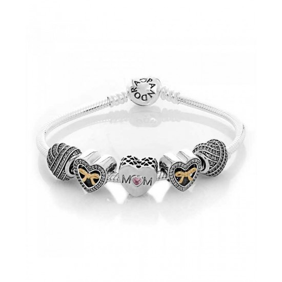 Pandora Bracelet-Limited Edition Mothers Heart Complete Jewelry