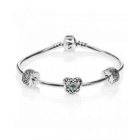 Pandora Bracelet-May Birthstone Complete Jewelry