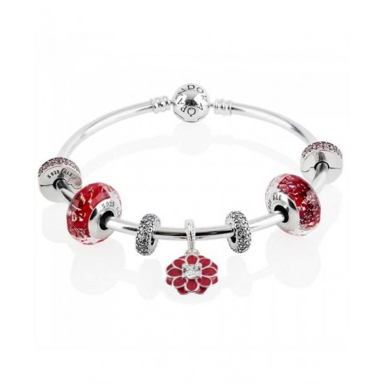 Pandora Bracelet-Oriental Bloom Complete Bangle Jewelry