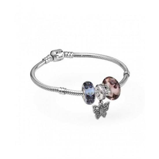 Pandora Bracelet-Pretty Butterflies Complete Jewelry