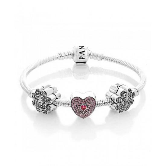 Pandora Bracelet-Sweet Petals Of Love Complete Jewelry